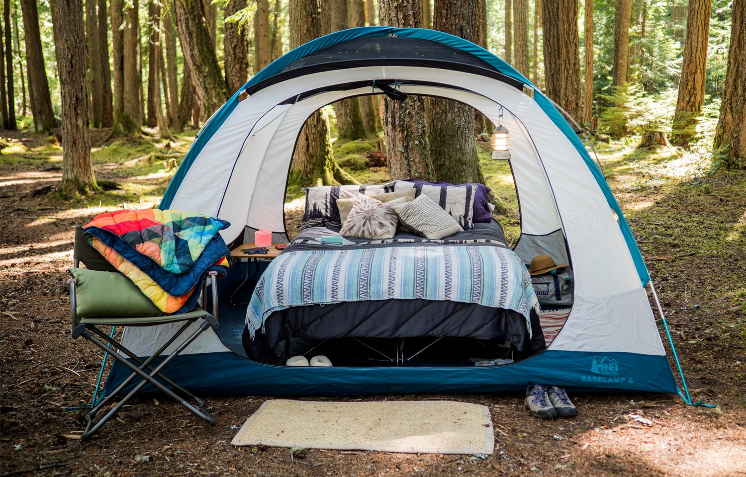 DIY Tent Glamping On A Budget